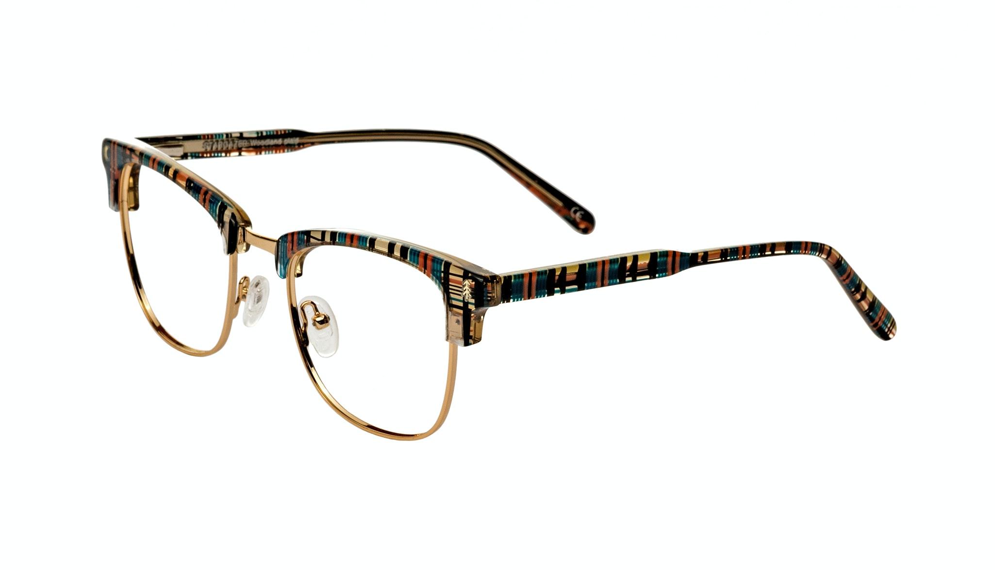 Affordable Fashion Glasses Rectangle Square Eyeglasses Women Stargazer Woodland Plaid Tilt