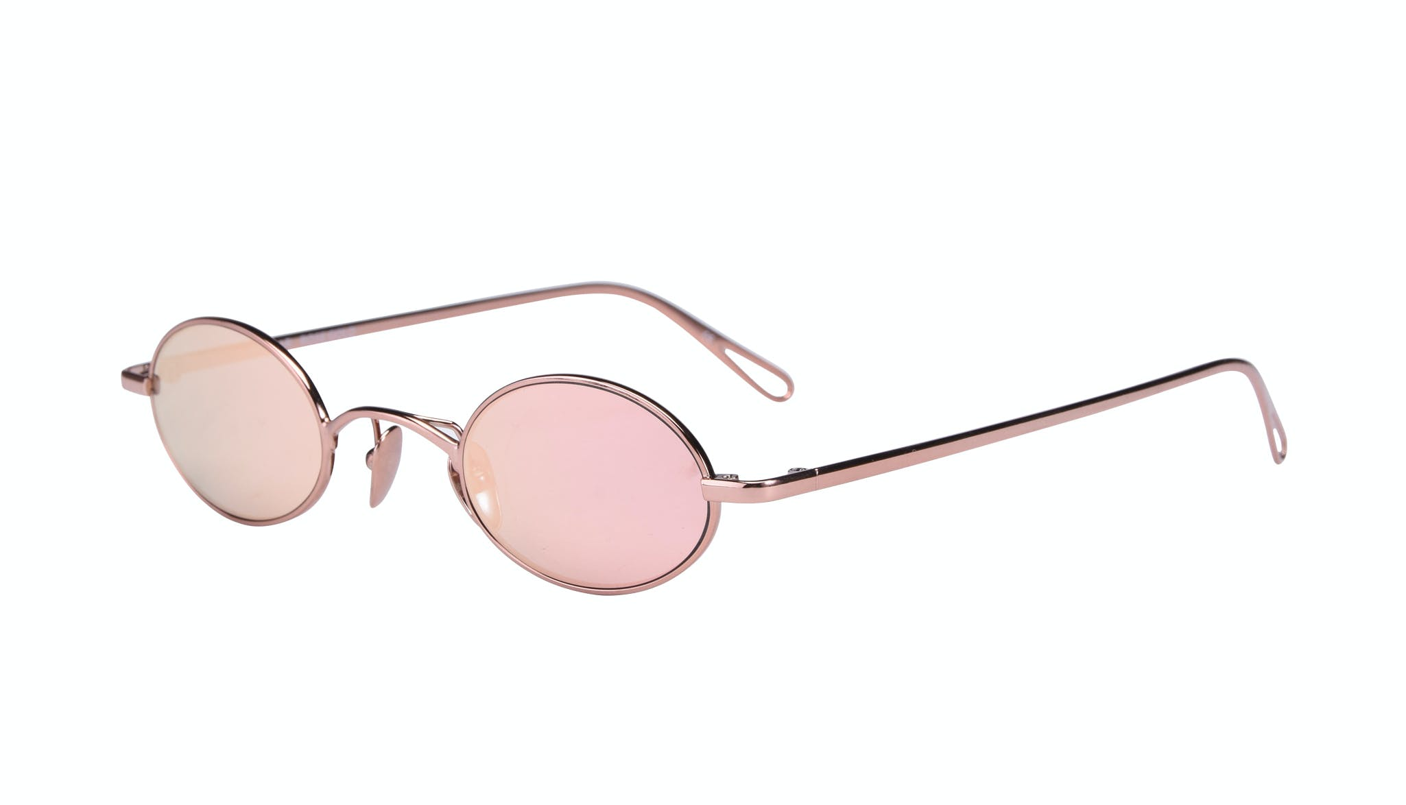 Affordable Fashion Glasses Round Sunglasses Women Stellar Rose Gold Tilt