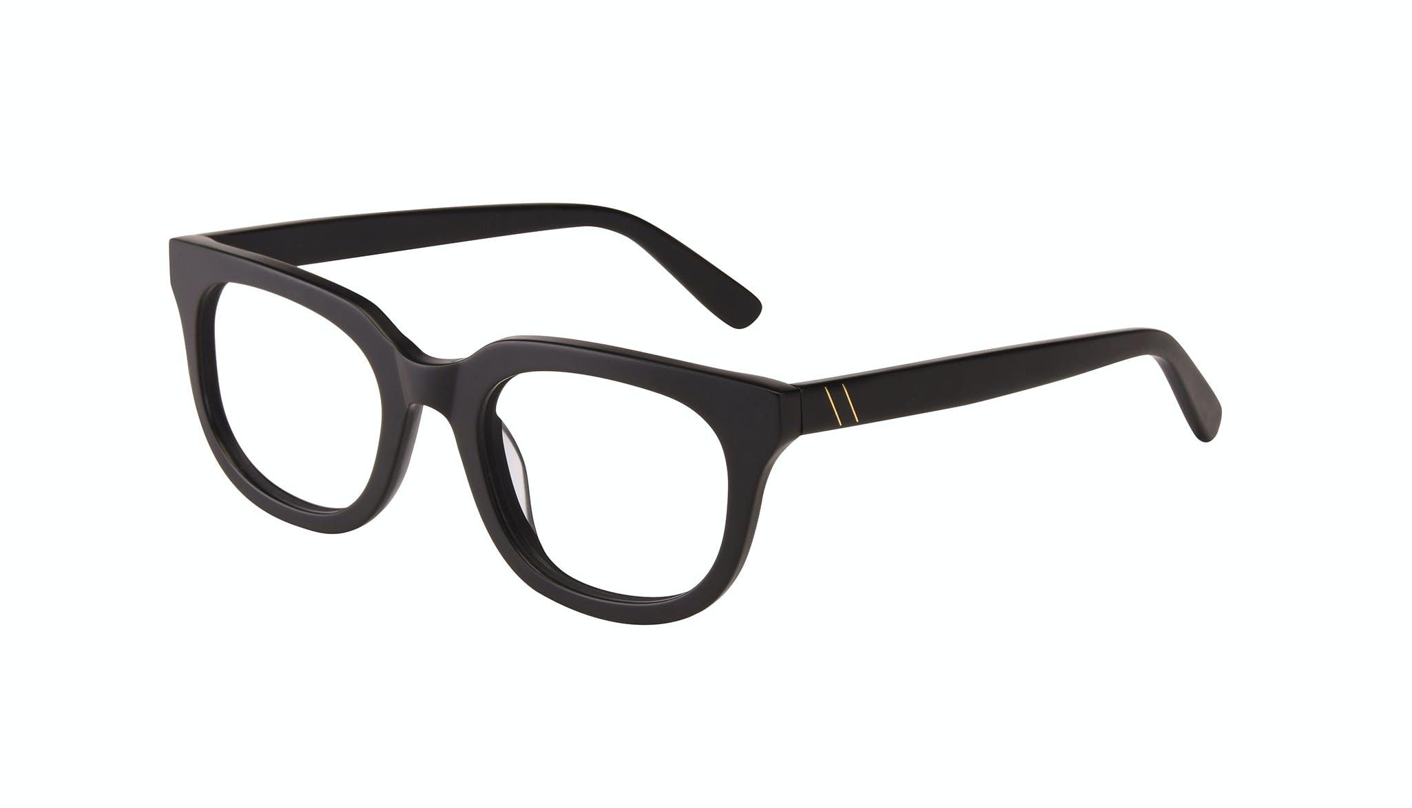 Affordable Fashion Glasses Square Eyeglasses Men Stout Matte Black Tilt