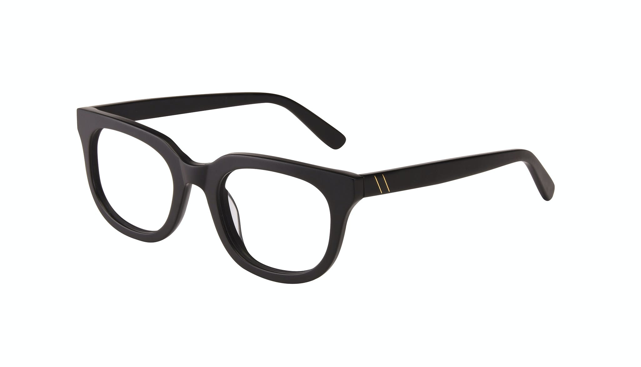 Affordable Fashion Glasses Square Eyeglasses Men Stout Matte Black Tilt