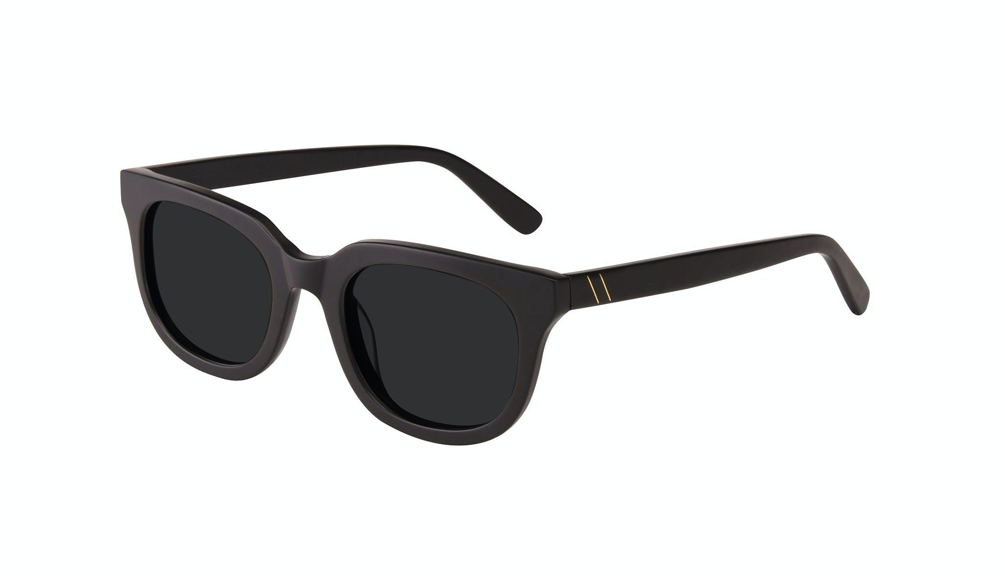 Affordable Fashion Glasses Square Sunglasses Men Stout Matte Black Tilt