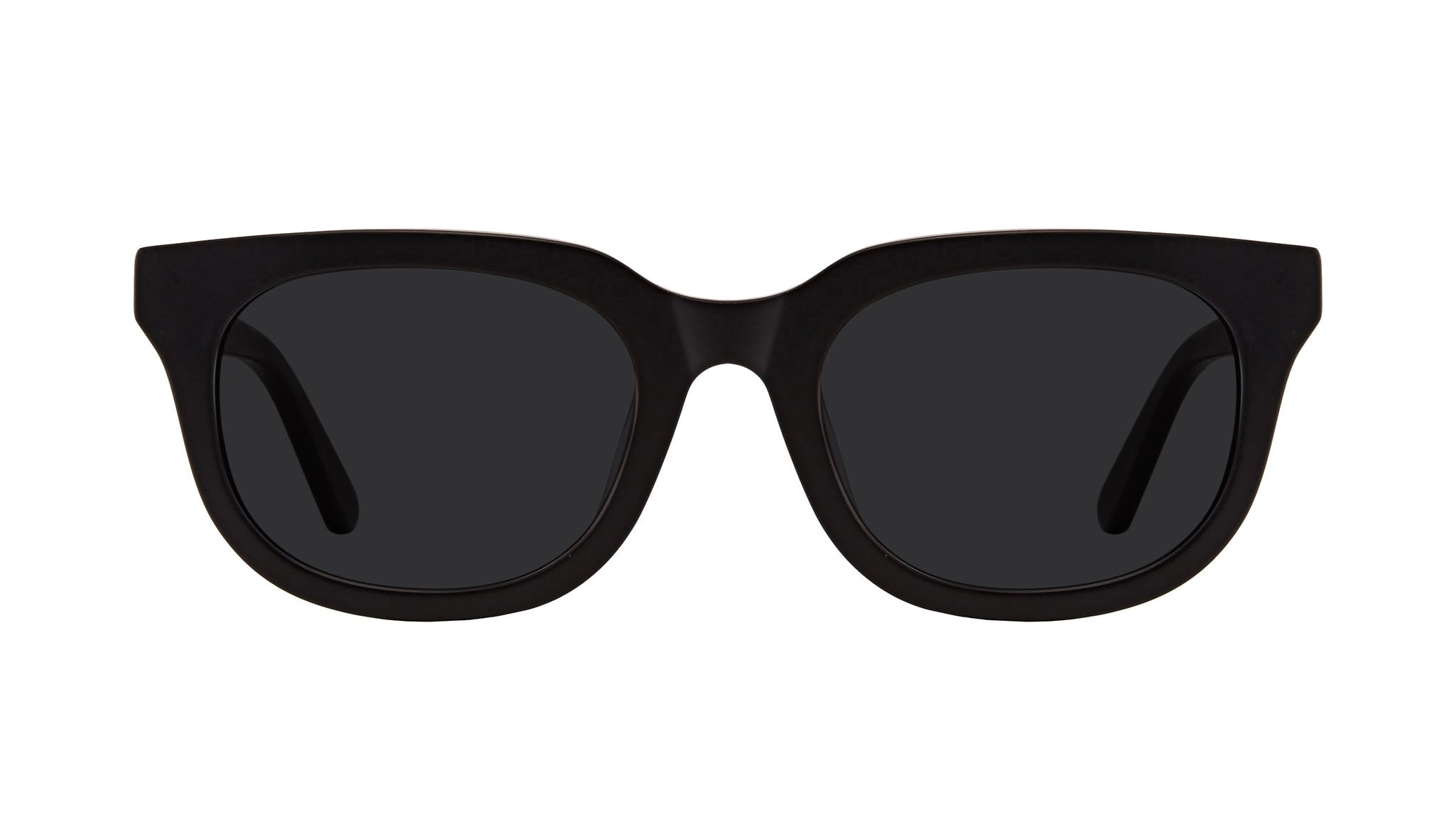 Affordable Fashion Glasses Square Sunglasses Men Stout Matte Black Front