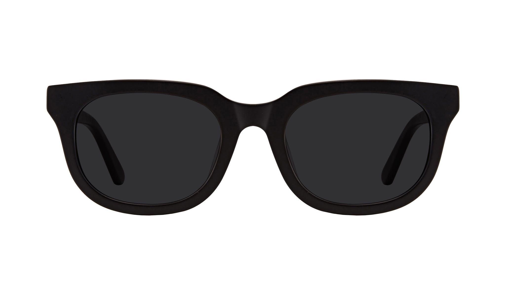 Lunettes tendance Carrée Lunettes de soleil Hommes Stout Matte Black Face