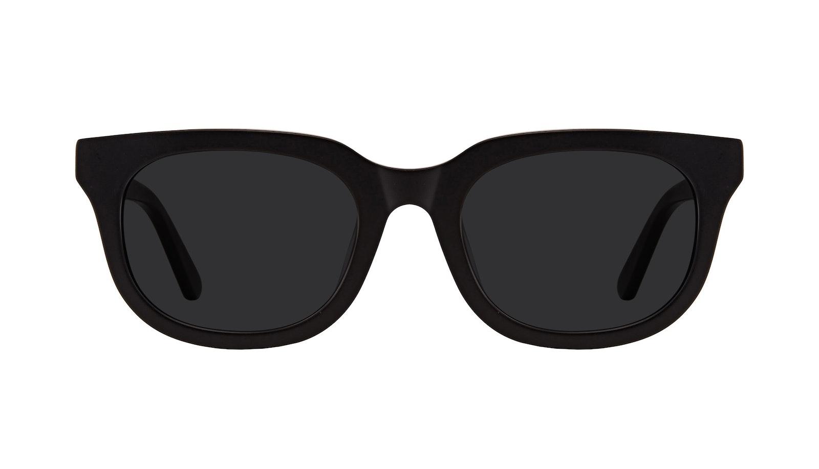 Lunettes tendance Carrée Lunettes de soleil Hommes Stout Matte Black