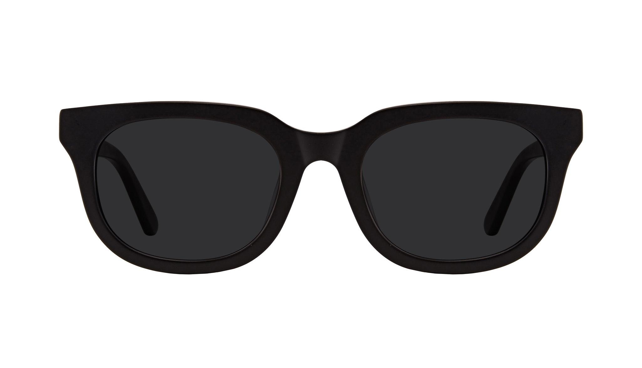 Affordable Fashion Glasses Square Sunglasses Men Stout Matte Black