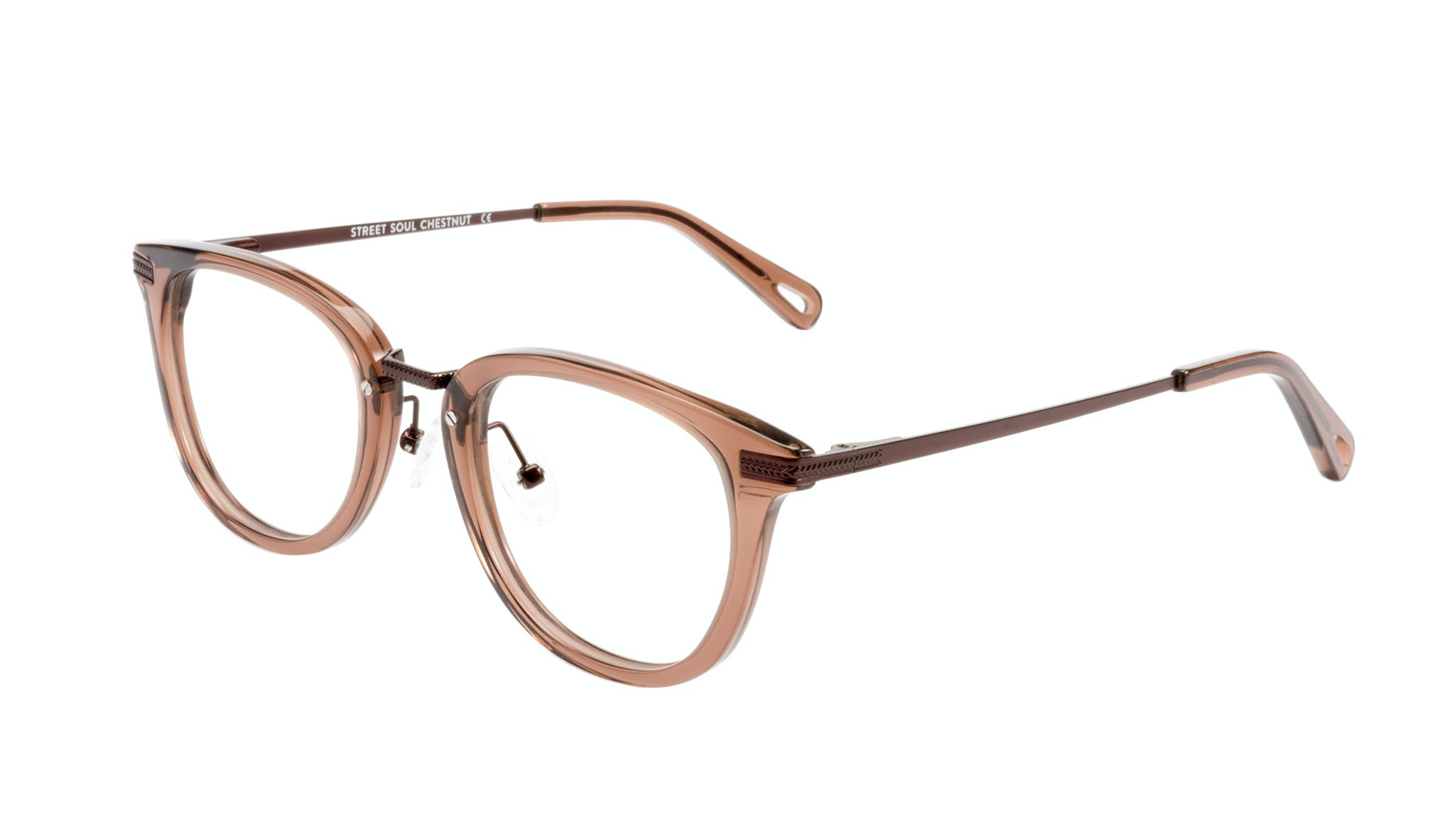 Affordable Fashion Glasses Rectangle Square Eyeglasses Men Street Soul Chestnut Tilt