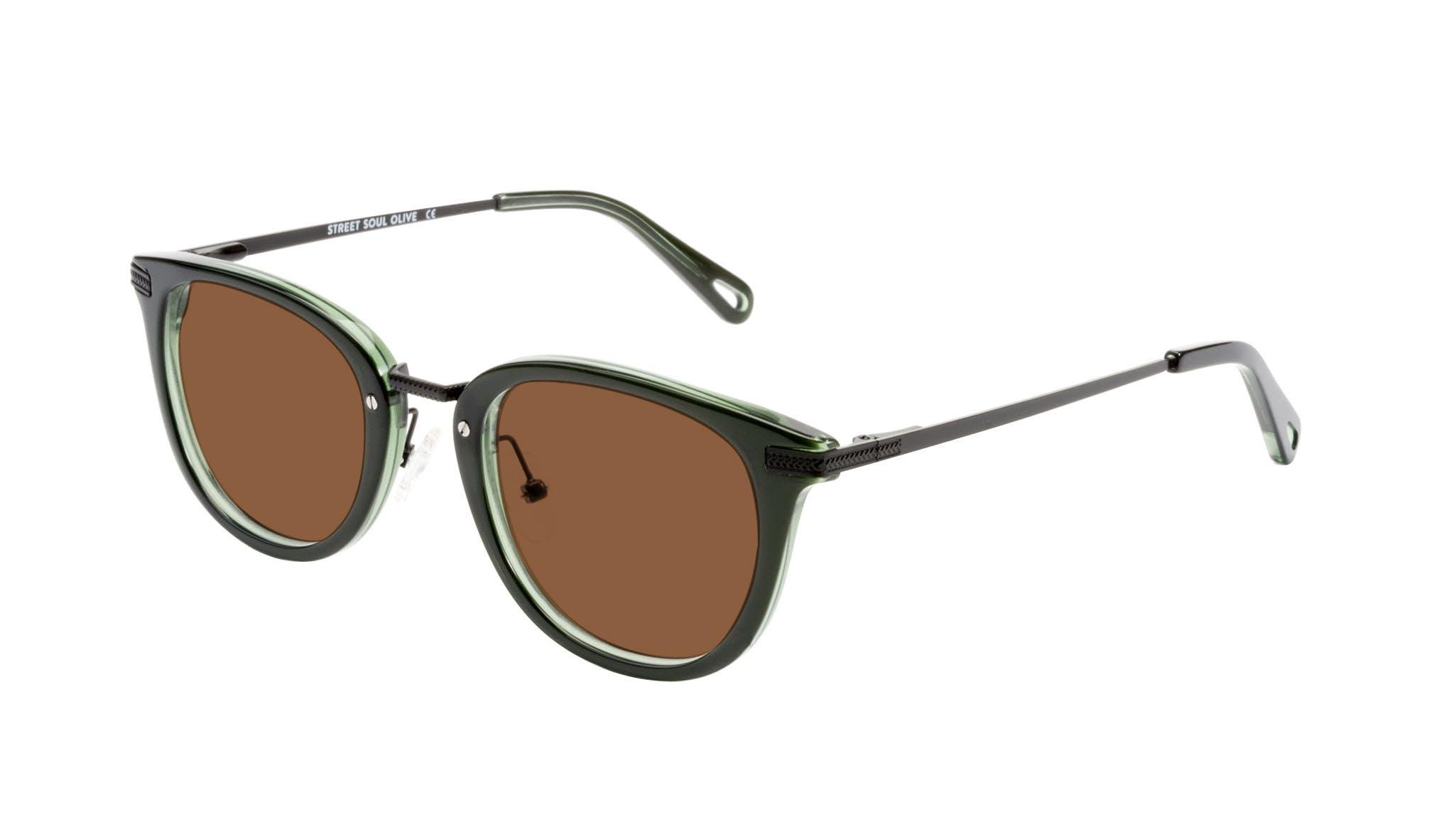 Affordable Fashion Glasses Rectangle Square Sunglasses Men Street Soul Olive Tilt