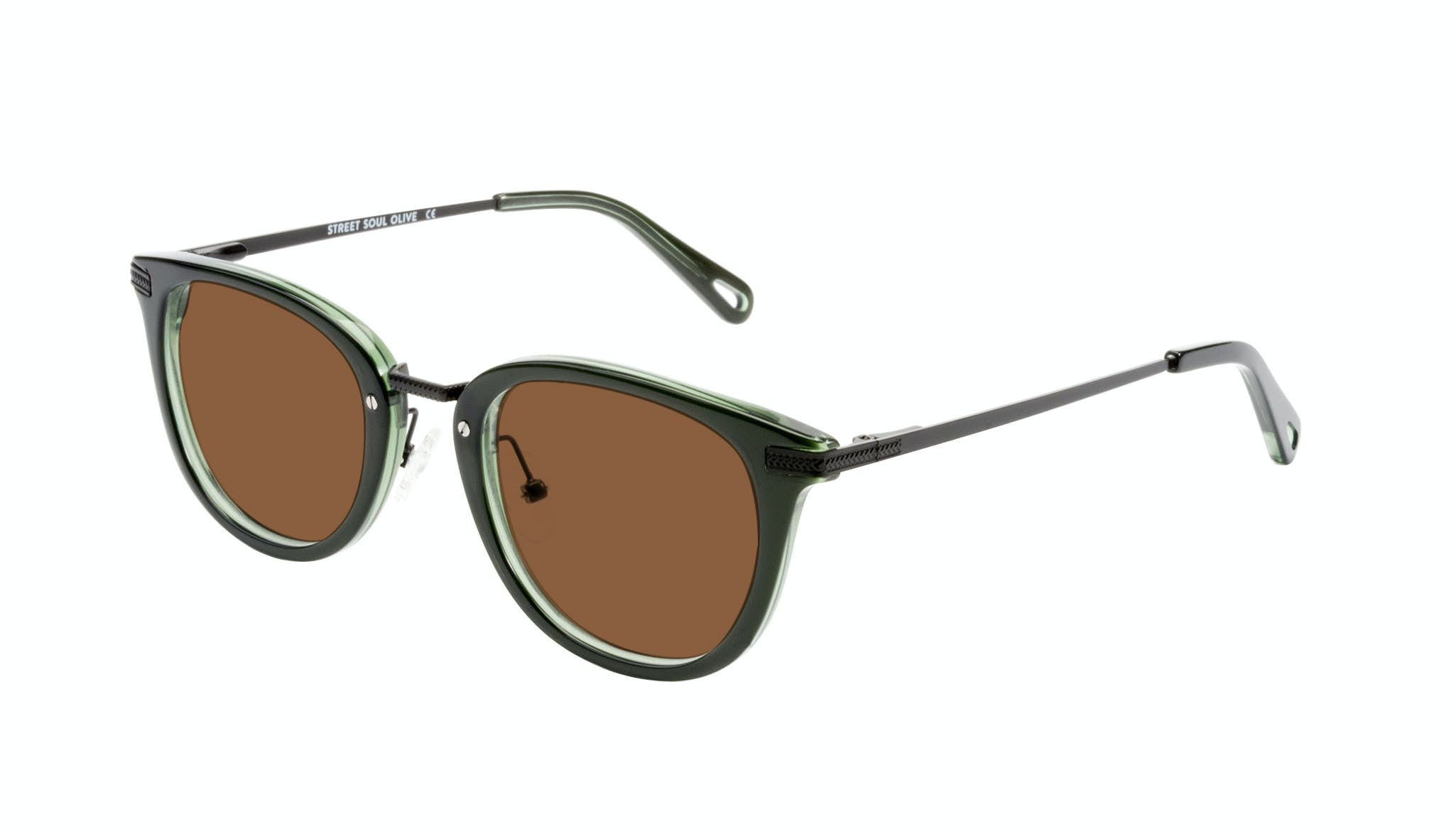 Affordable Fashion Glasses Rectangle Square Sunglasses Men Street Soul Olive Tilt