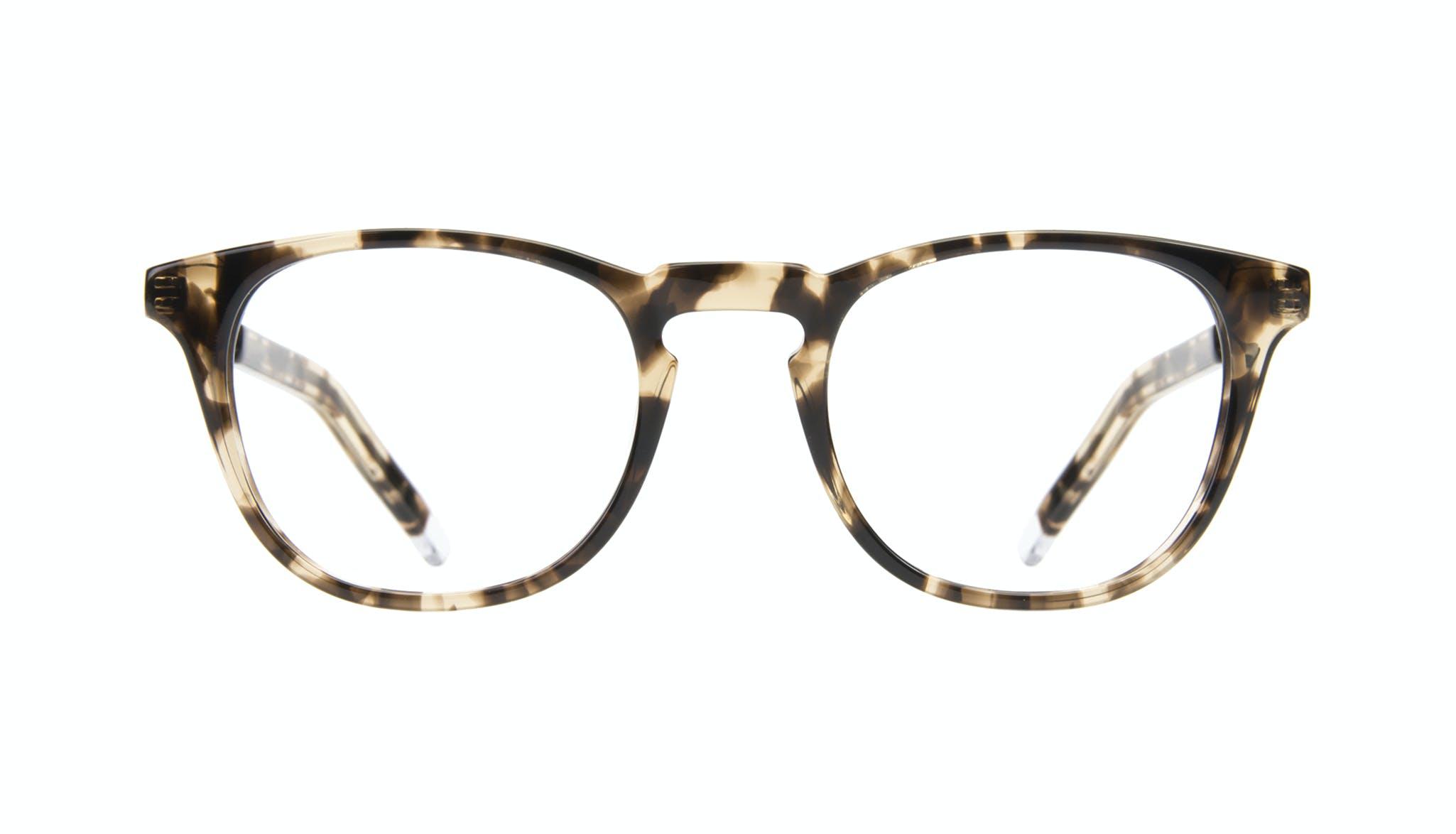Affordable Fashion Glasses Rectangle Square Eyeglasses Men Sturdy Gold Tort Front