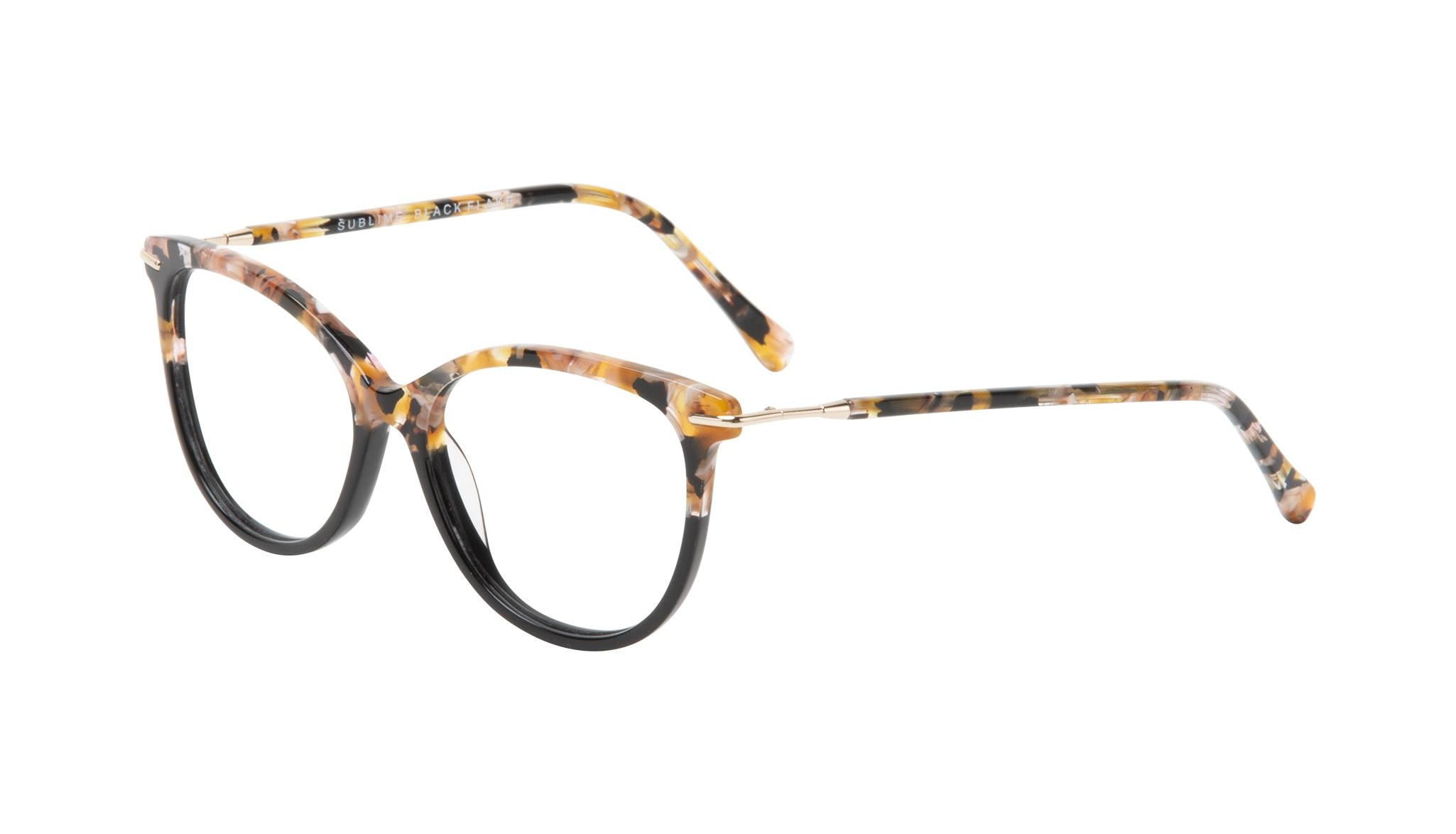 Affordable Fashion Glasses Round Eyeglasses Women Sublime Black Flake Tilt