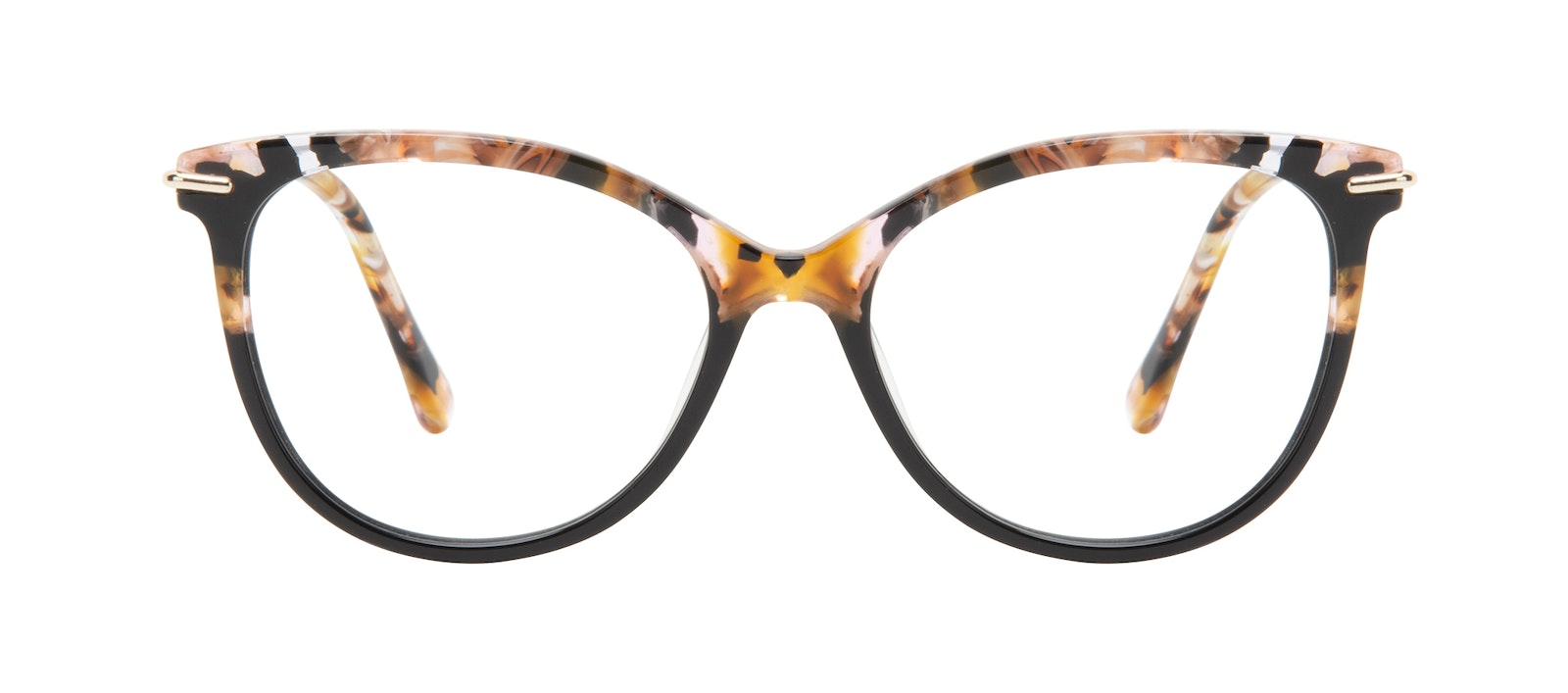 Affordable Fashion Glasses Round Eyeglasses Women Sublime Black Flake Front