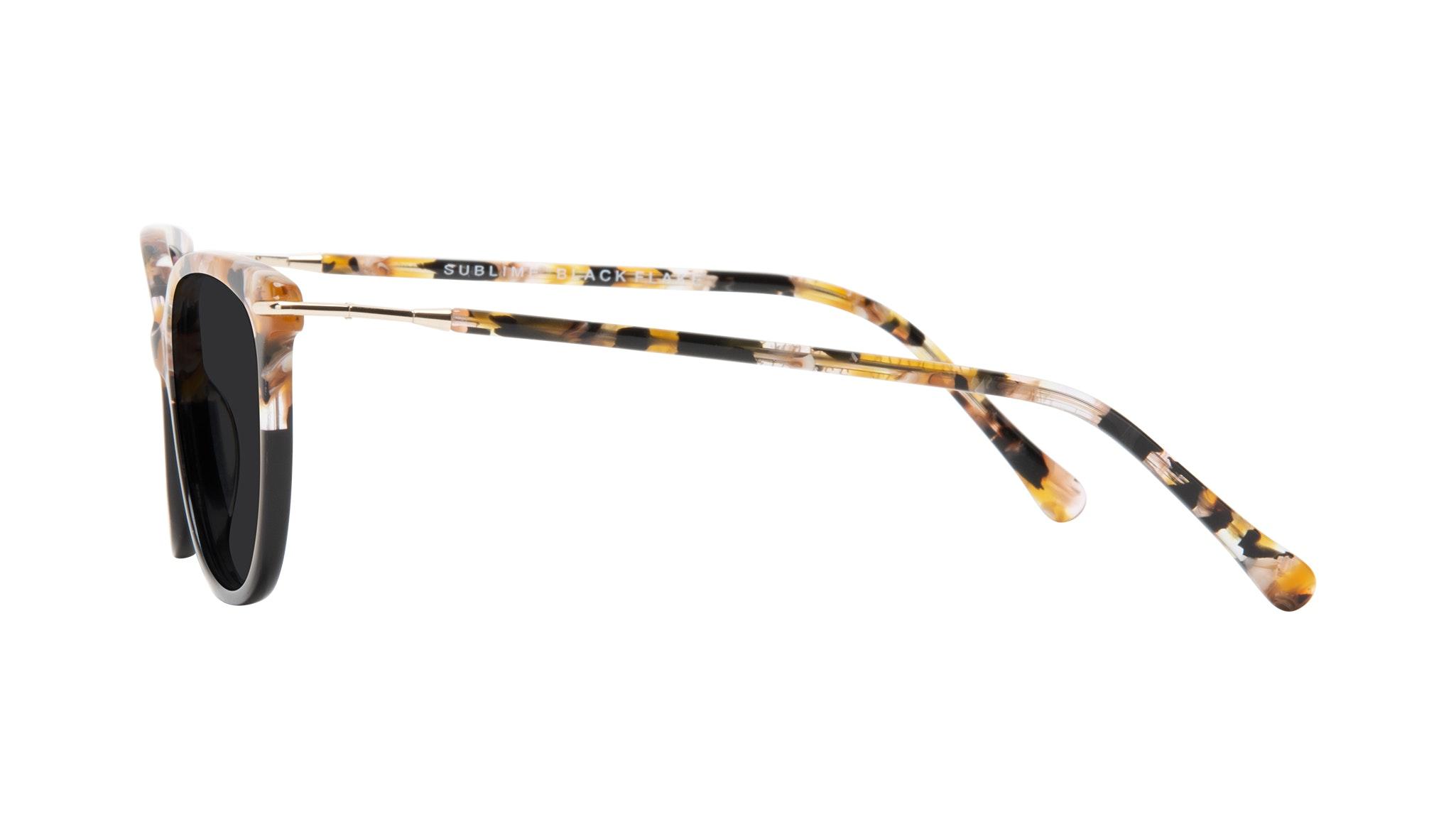 Affordable Fashion Glasses Round Sunglasses Women Sublime Black Flake Side