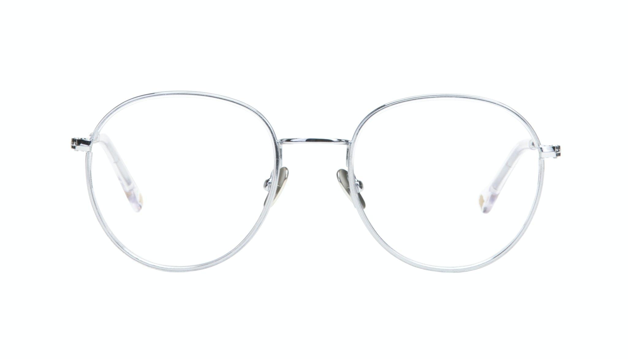 Affordable Fashion Glasses Aviator Round Eyeglasses Women Subrosa Glacier Front