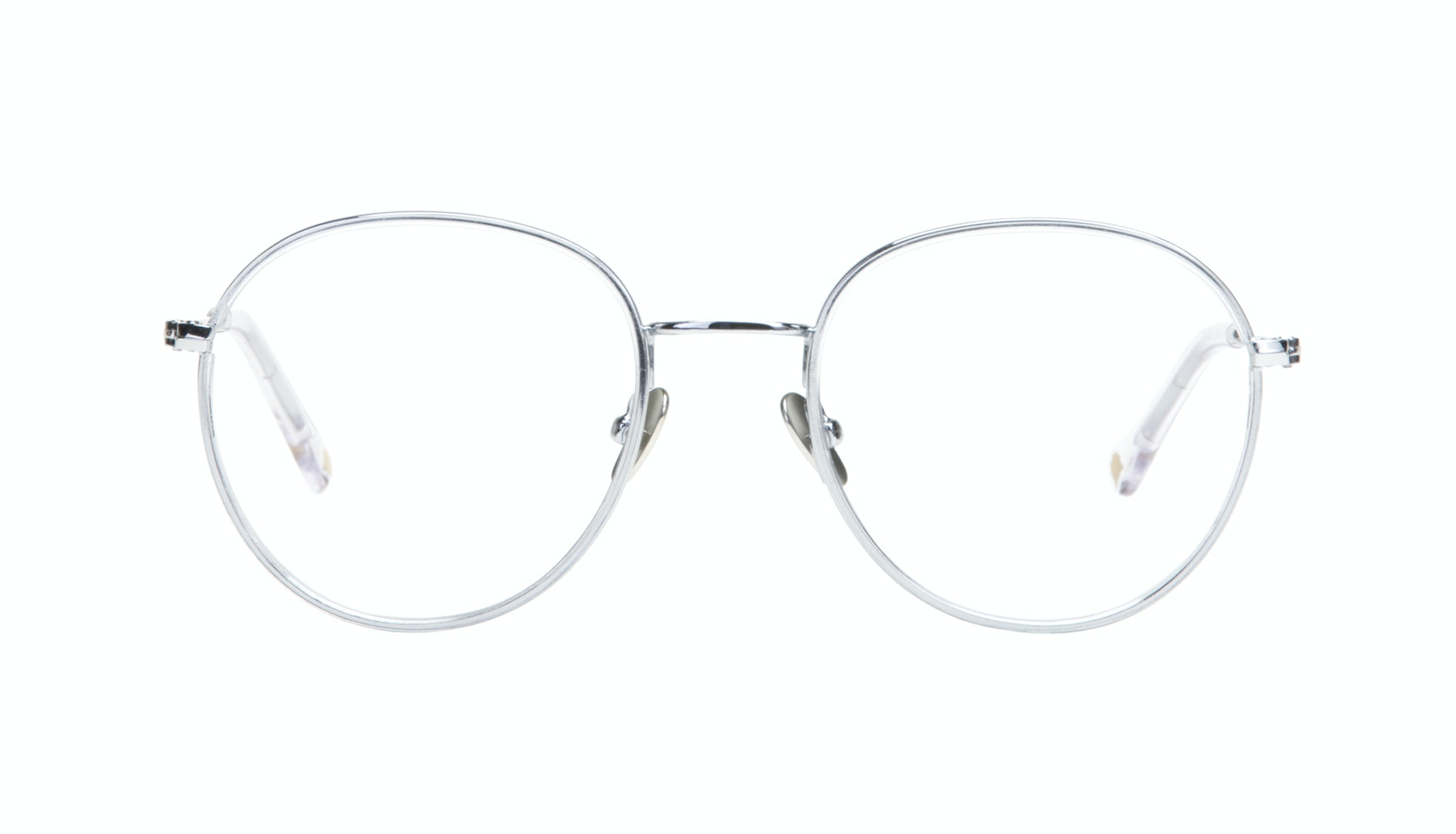 Affordable Fashion Glasses Aviator Round Eyeglasses Women Subrosa Glacier Front