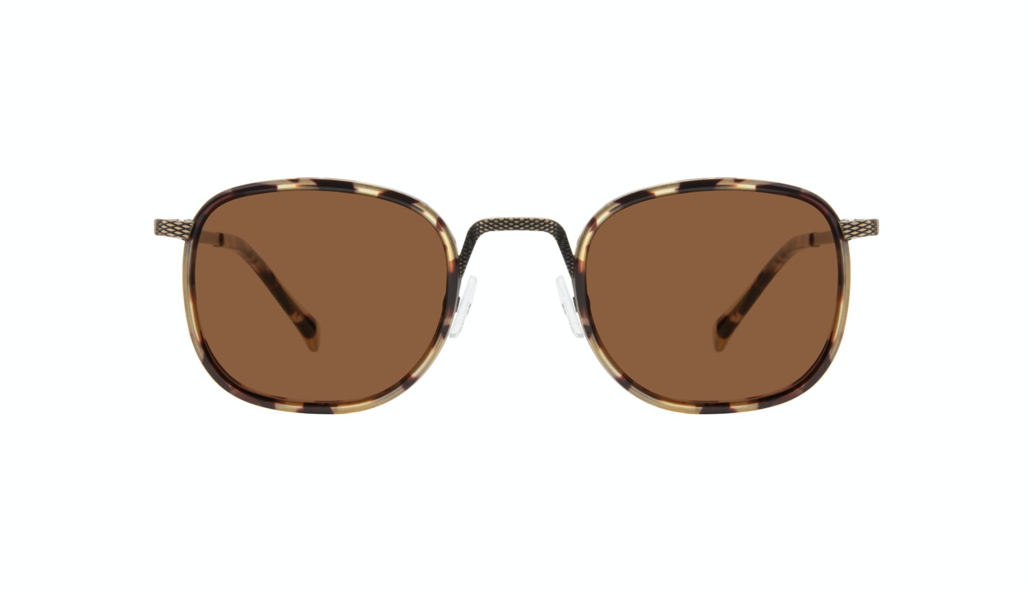 Affordable Fashion Glasses Square Sunglasses Men Swell Antique Tort Front