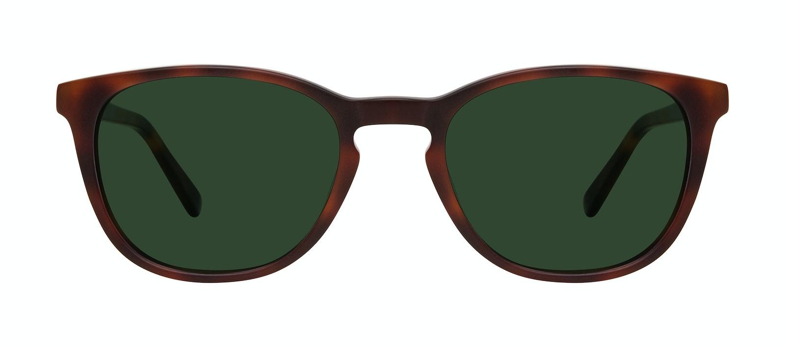 Affordable Fashion Glasses Square Sunglasses Men Swerve Matte Tortoise Front