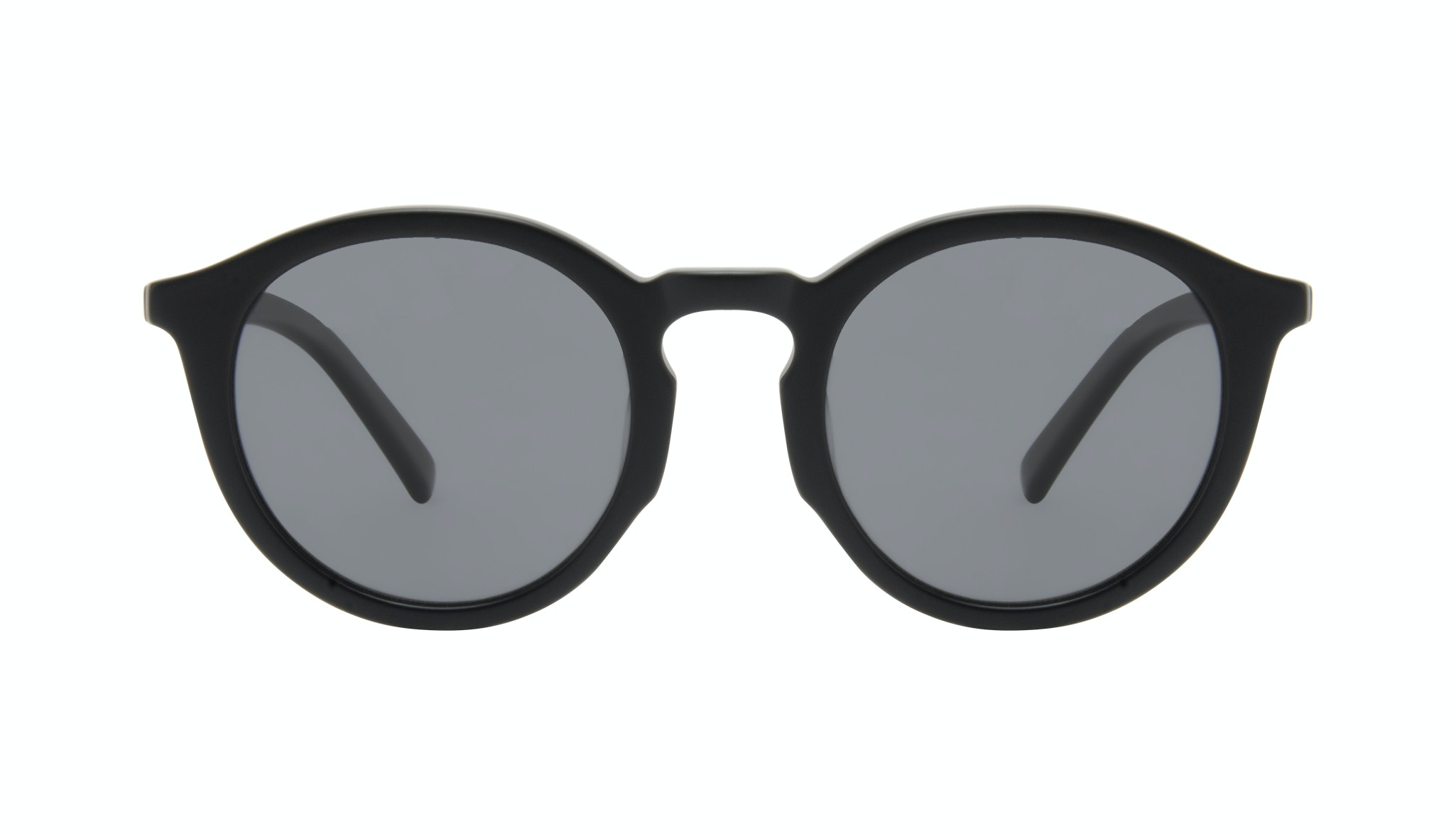 Affordable Fashion Glasses Round Sunglasses Men Thrill Onyx Matte Front
