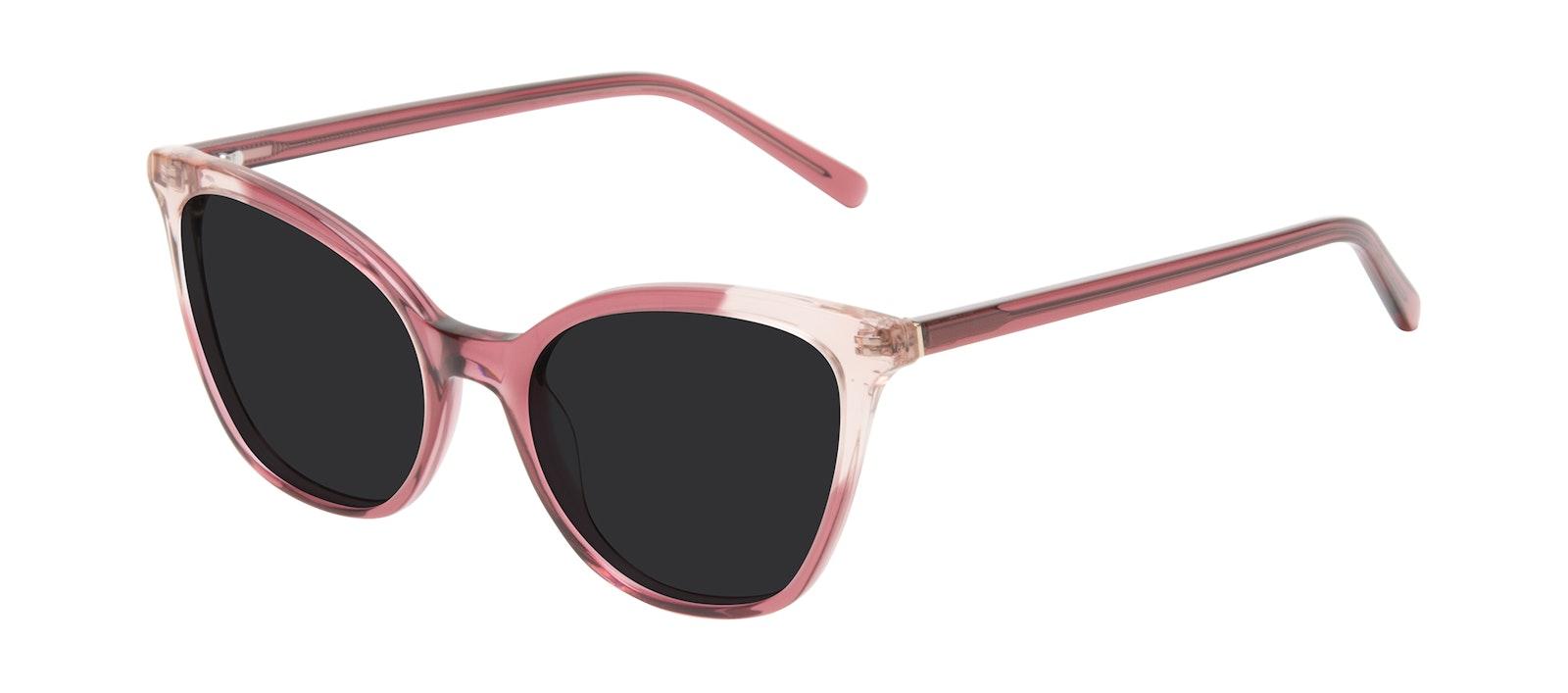 Lunettes tendance Oeil de chat Lunettes de soleil Femmes Tippi Orchid Pink Incliné