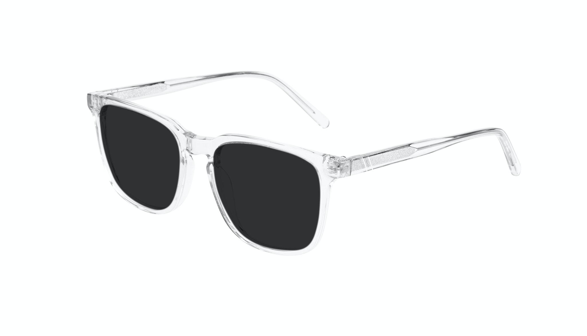 Affordable Fashion Glasses Rectangle Sunglasses Men Trace grey Tilt