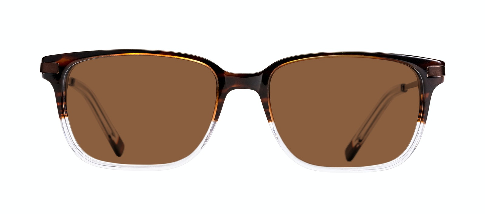 Affordable Fashion Glasses Rectangle Sunglasses Men Trade Mud Clear Front