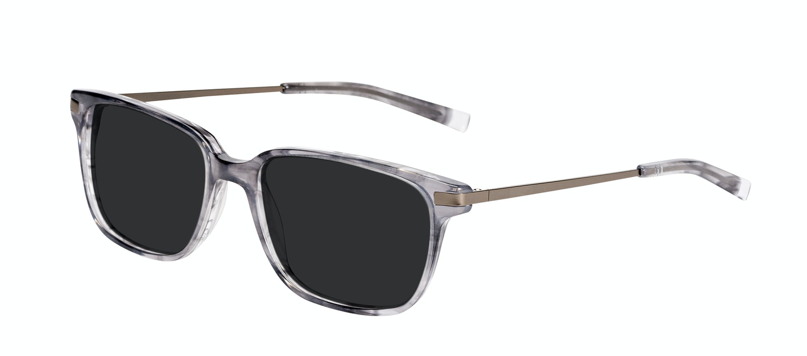 Affordable Fashion Glasses Rectangle Sunglasses Men Trade Smokey Grey Tilt