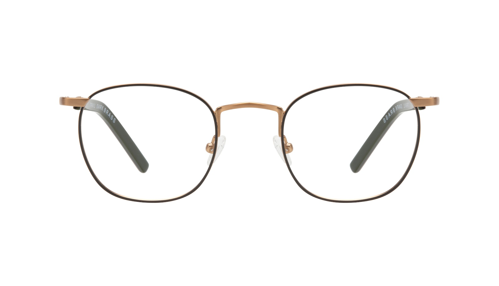 Affordable Fashion Glasses Round Eyeglasses Men Trail Dark Brass