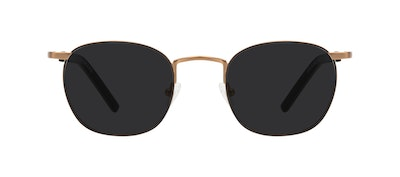 Affordable Fashion Glasses Round Sunglasses Men Trail Dark Brass Front