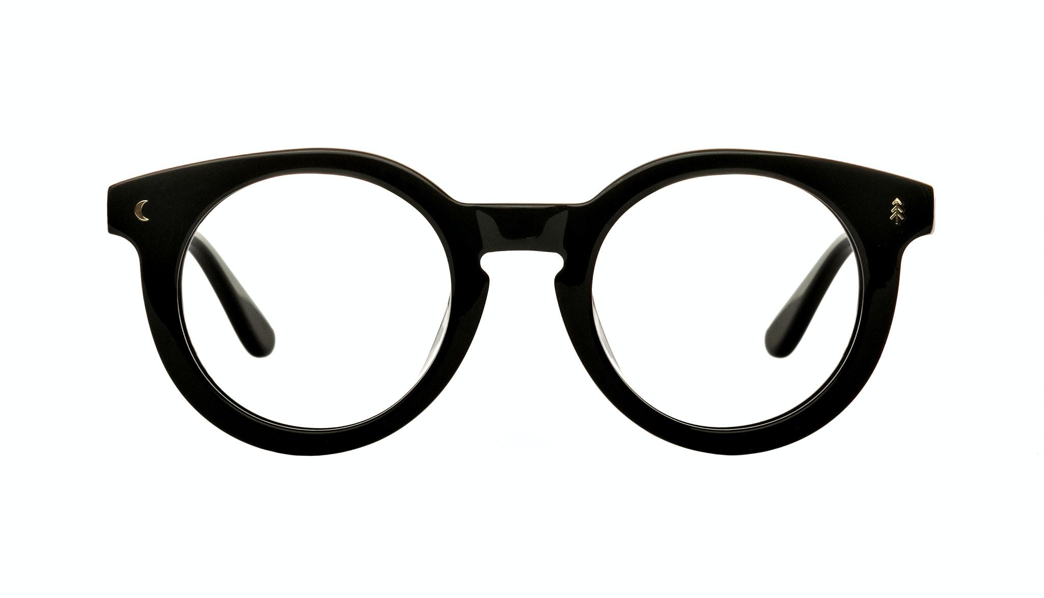 Affordable Fashion Glasses Round Eyeglasses Women Trailblazer Eclipse Black Front