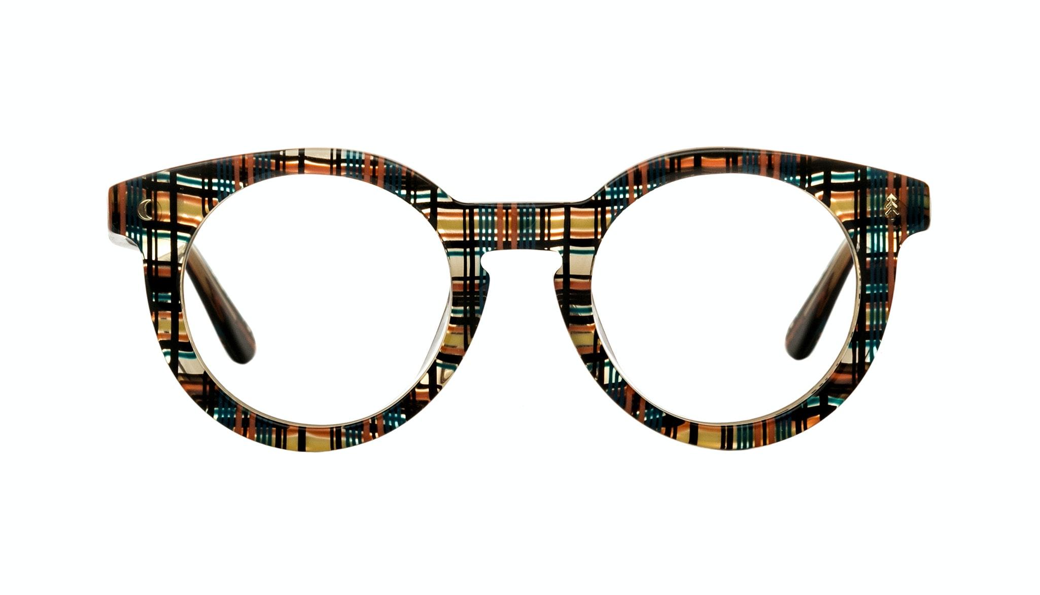 Affordable Fashion Glasses Round Eyeglasses Women Trailblazer Woodland Plaid