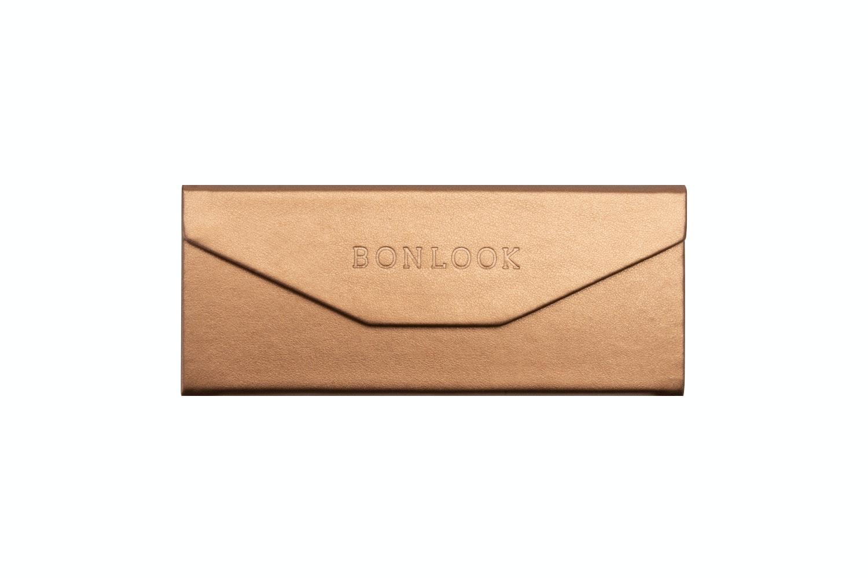 Lunettes tendance Accessoire Femmes Triangle Envelop Case Copper