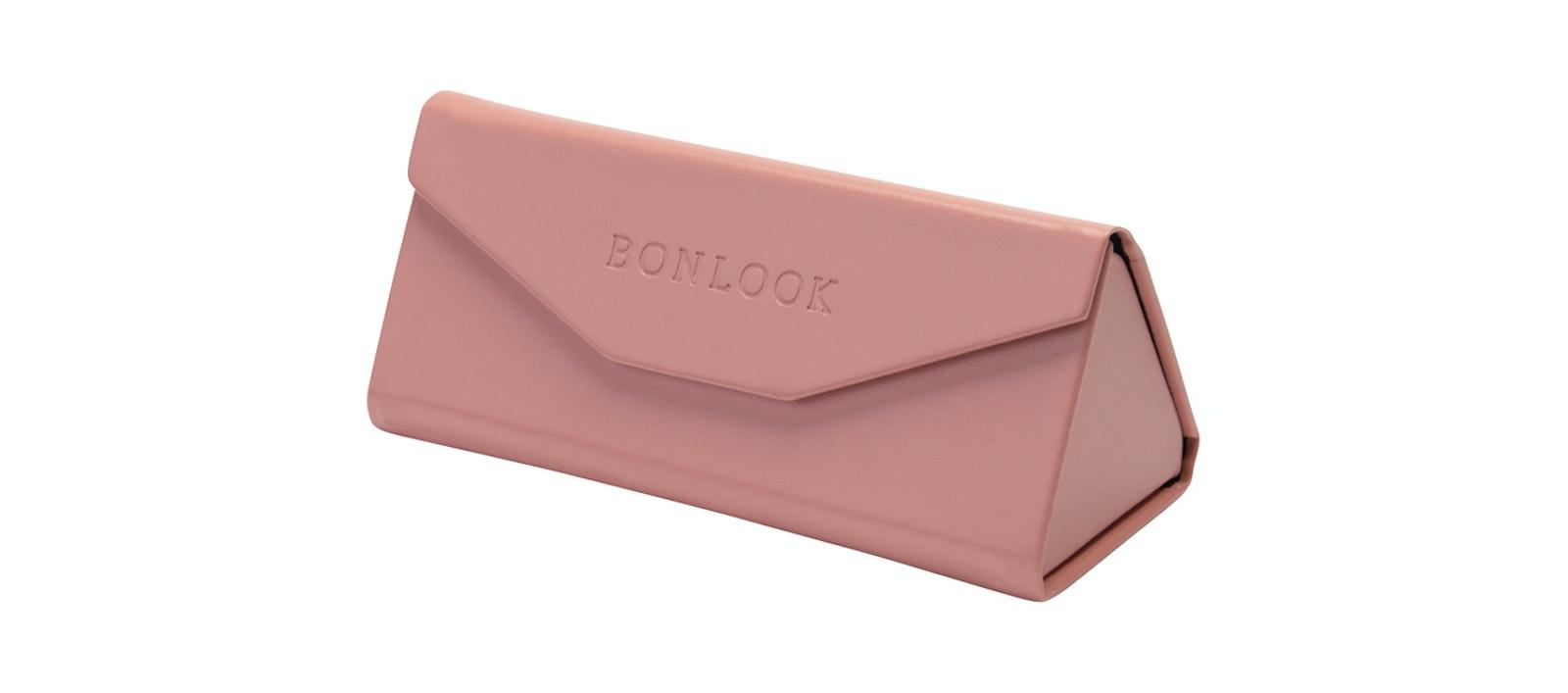 Lunettes tendance Accessoire Femmes Triangle Envelop Case Rose Incliné