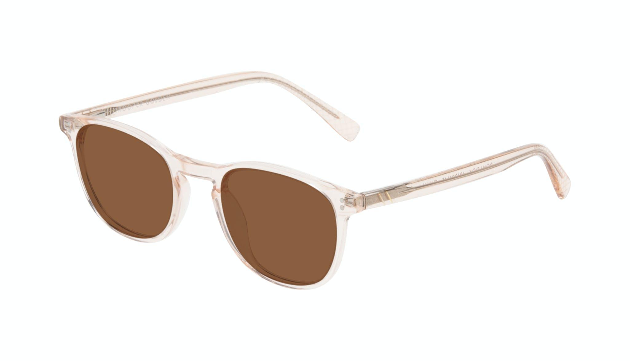 Affordable Fashion Glasses Round Sunglasses Men Trooper Golden Tilt