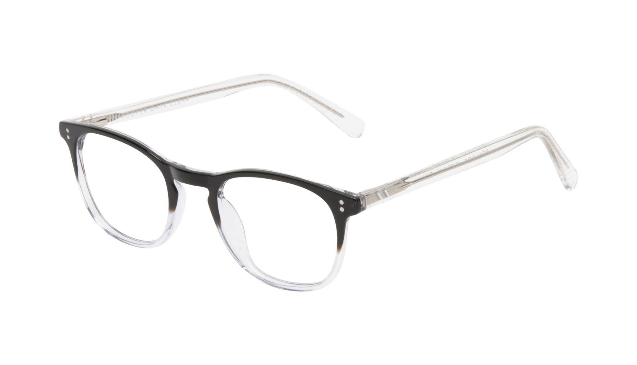 Affordable Fashion Glasses Round Eyeglasses Men Trooper Onyx Clear Tilt