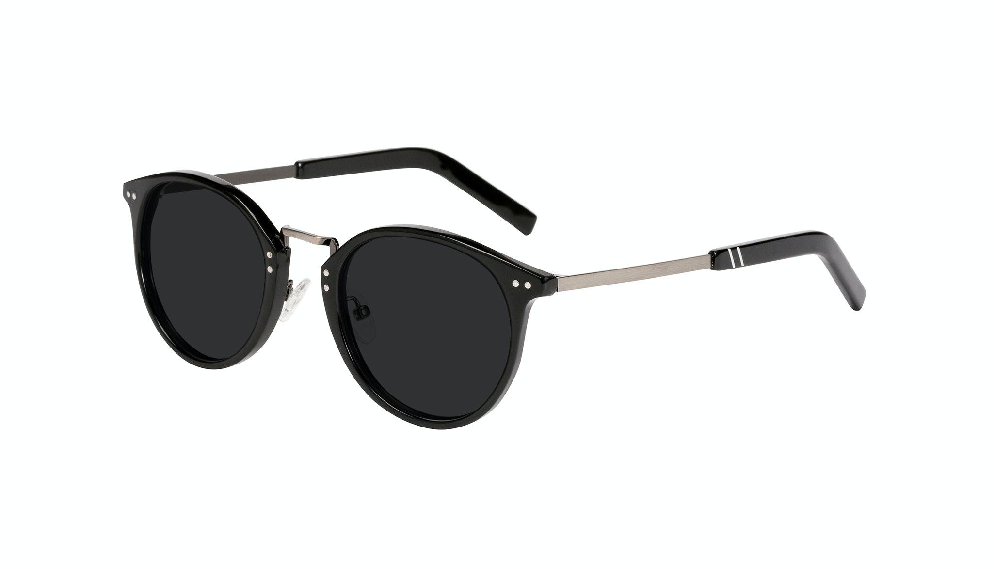 Affordable Fashion Glasses Round Sunglasses Men Truly Black Tilt