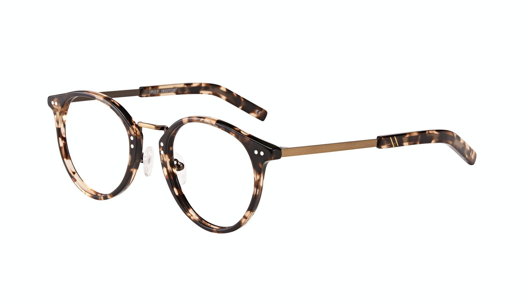 Affordable Fashion Glasses Round Eyeglasses Men Truly Deep Tort Tilt