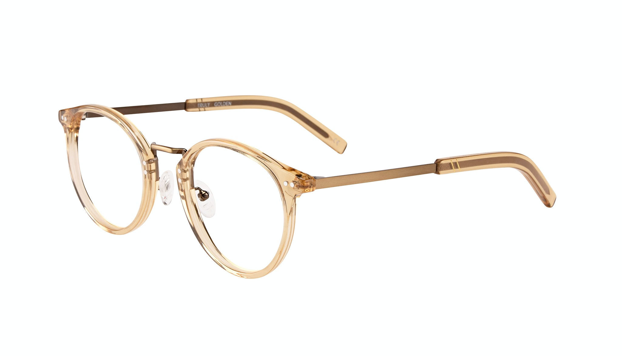 Affordable Fashion Glasses Round Eyeglasses Men Truly Golden Tilt