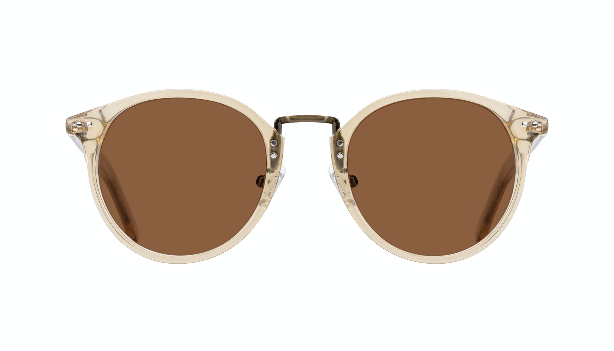 Affordable Fashion Glasses Round Sunglasses Men Truly Golden Front