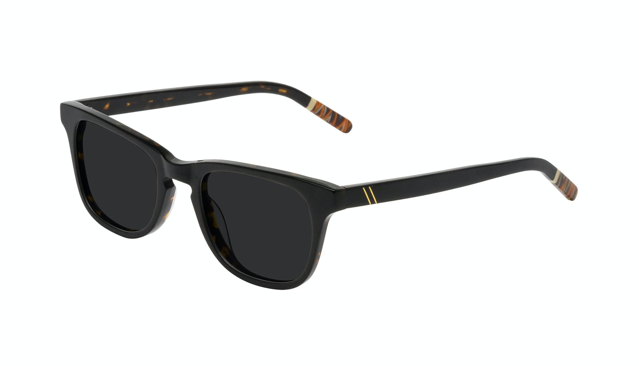 Affordable Fashion Glasses Rectangle Sunglasses Men Trust Black Tort Tilt