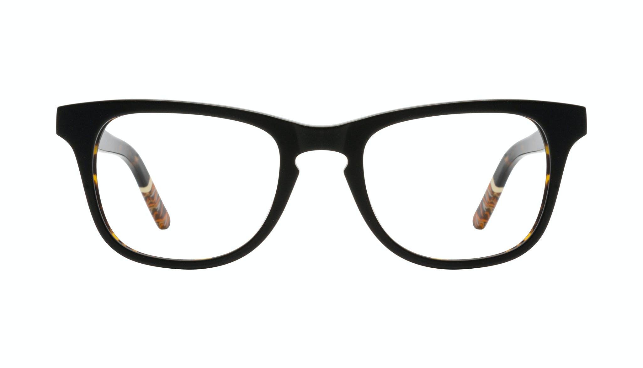 Affordable Fashion Glasses Rectangle Eyeglasses Men Trust Black Tort Front