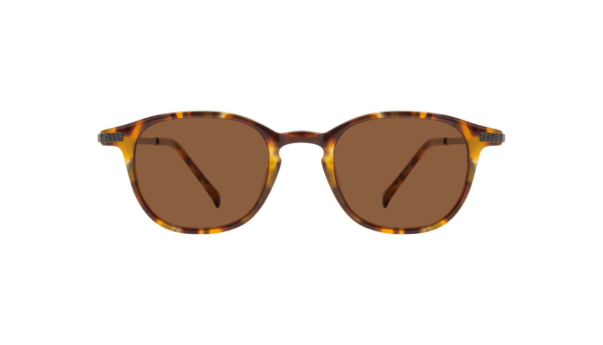Affordable Fashion Glasses Round Sunglasses Men Tux Havana Tort Front