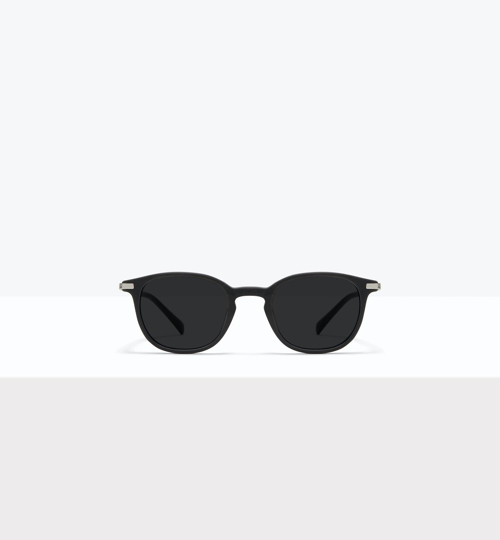 Lunettes tendance Ronde Lunettes de soleil Hommes Tux M Matte Black