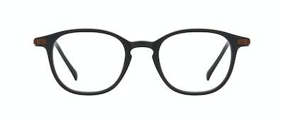 Affordable Fashion Glasses Round Eyeglasses Men Tux Onyx Matte Front