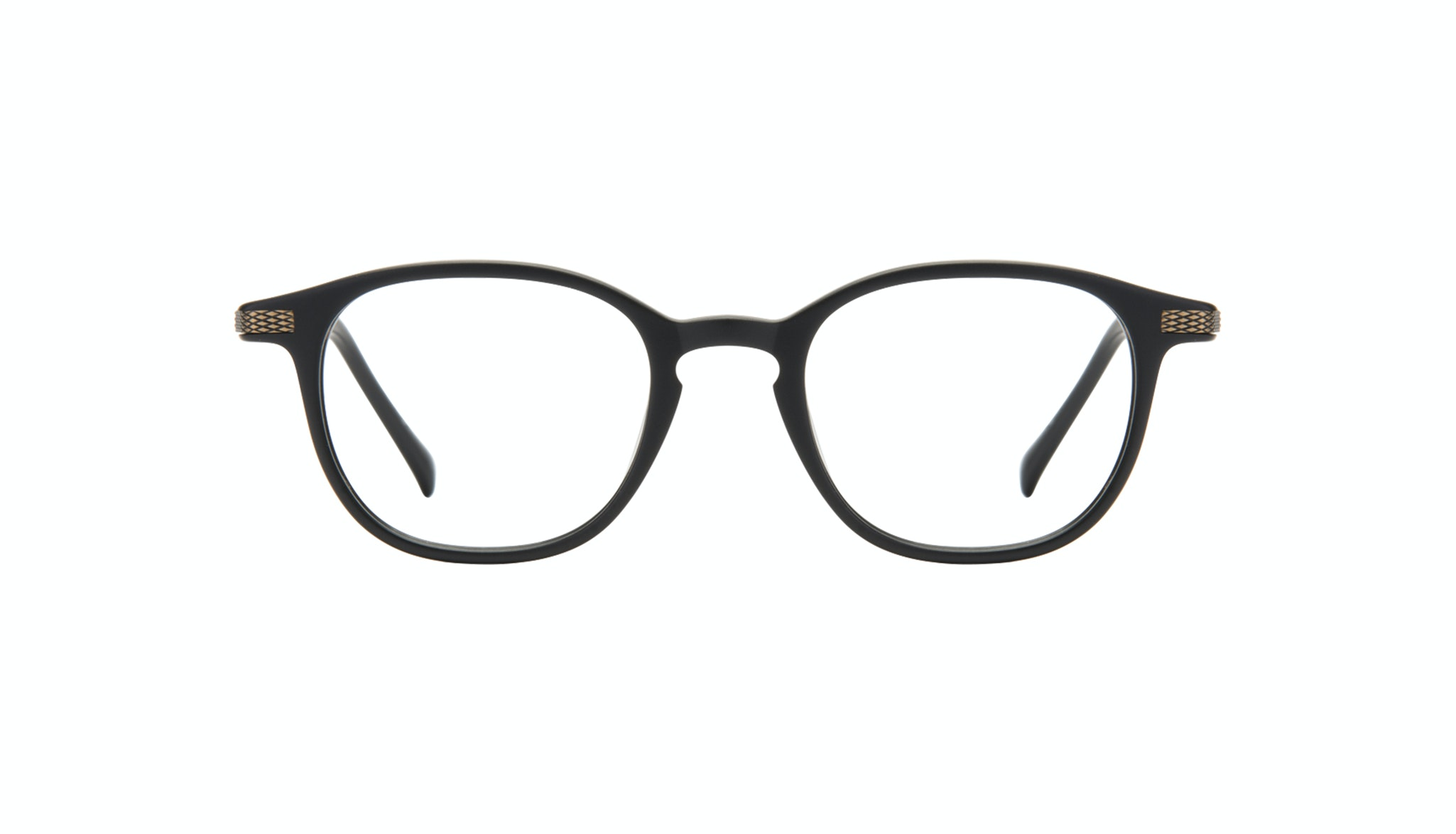 Affordable Fashion Glasses Round Eyeglasses Men Tux Onyx Matte Front