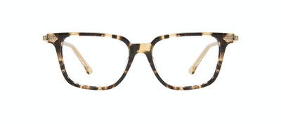 Affordable Fashion Glasses Square Eyeglasses Women Twinkle Golden Chip Front