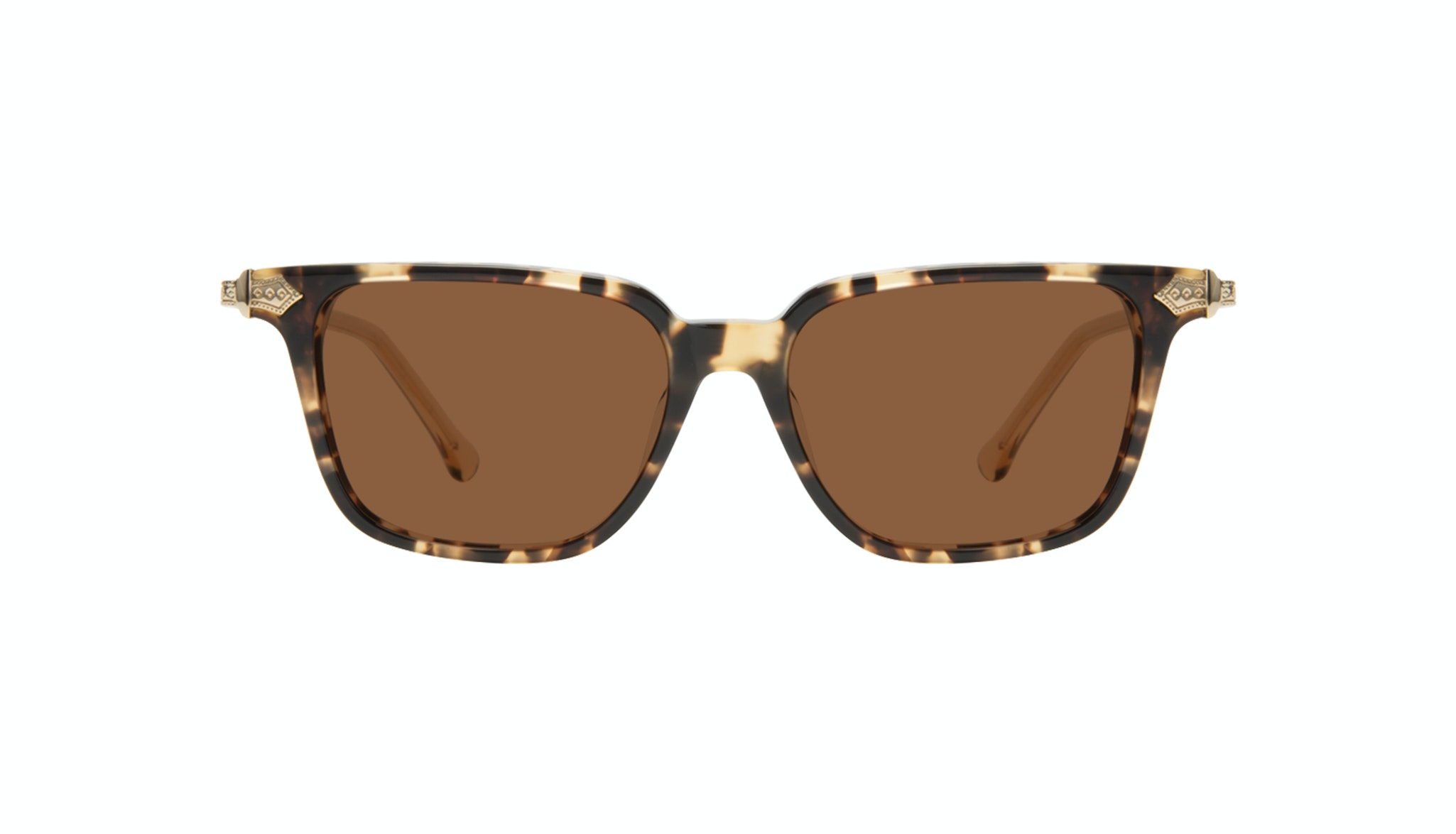 Affordable Fashion Glasses Square Sunglasses Women Twinkle Golden Chip Front