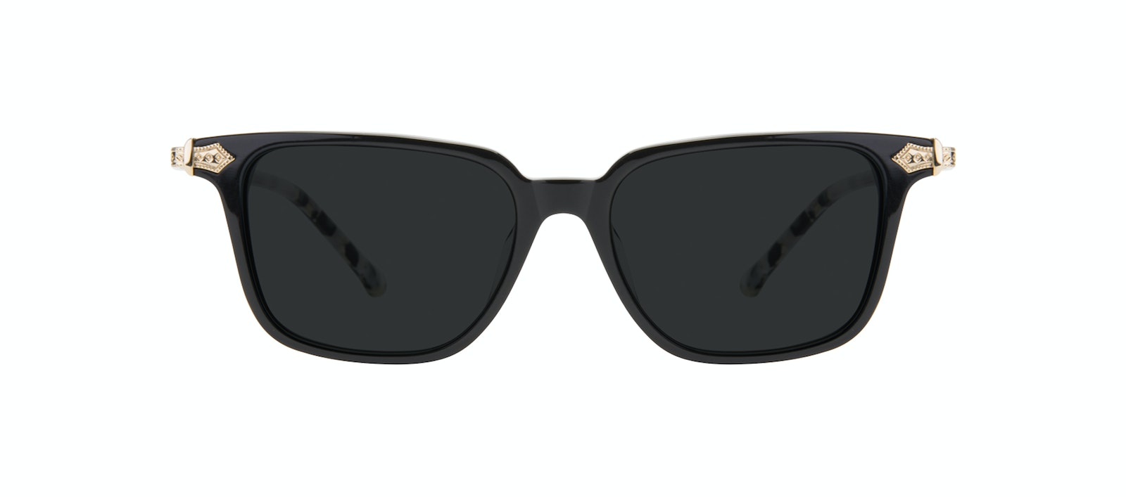 Affordable Fashion Glasses Square Sunglasses Women Twinkle Onyx Marble Front