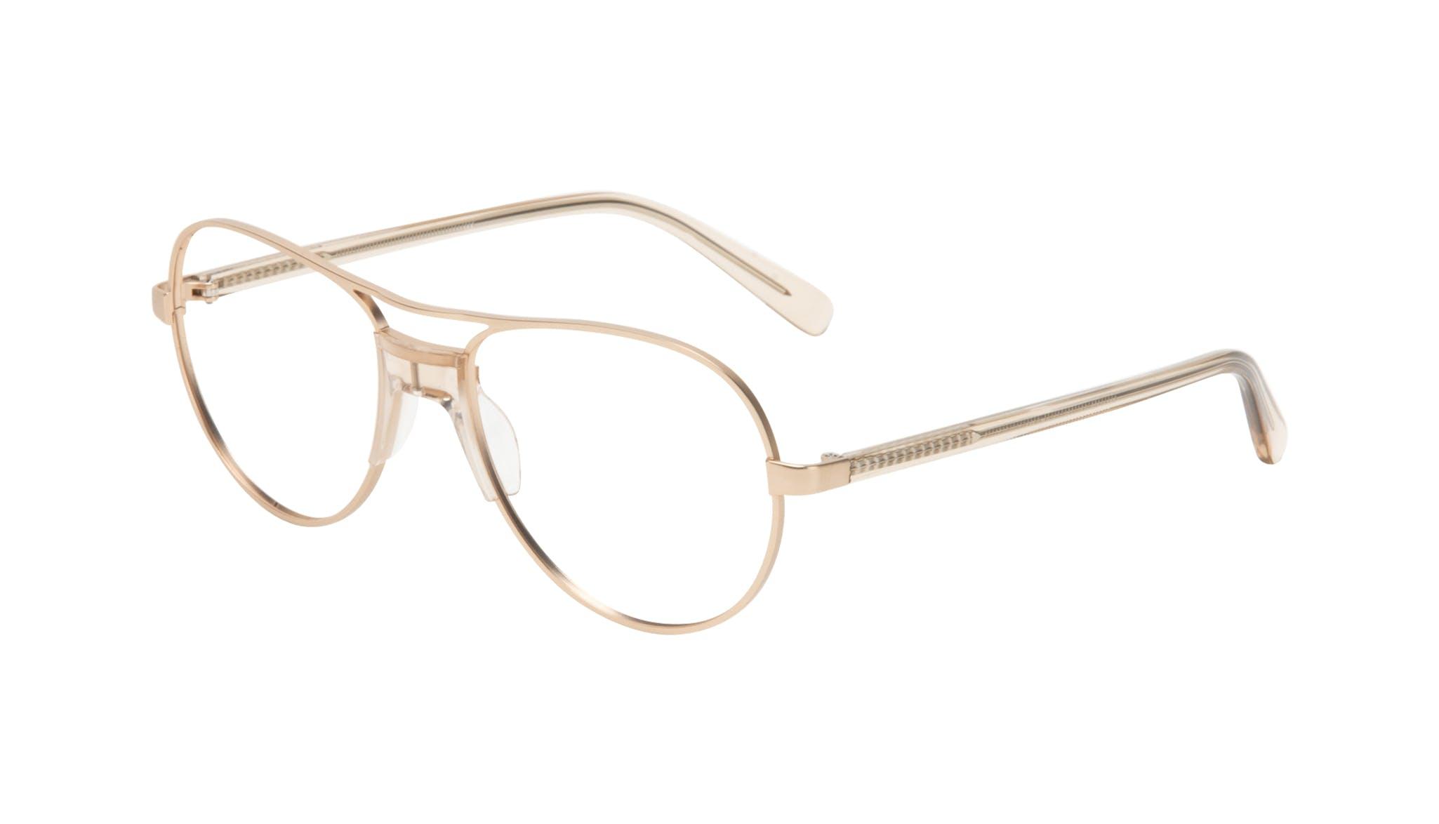 Affordable Fashion Glasses Aviator Eyeglasses Women Ultimate Gold Tilt
