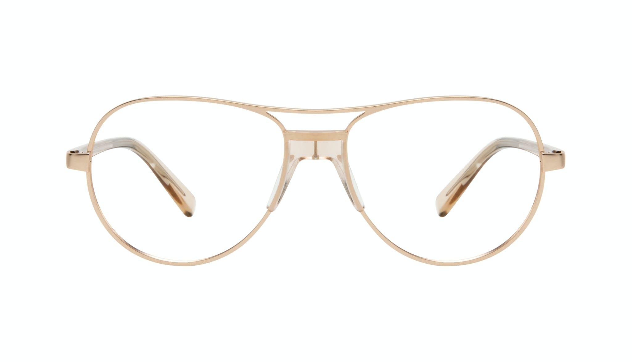 Affordable Fashion Glasses Aviator Eyeglasses Women Ultimate Gold Front