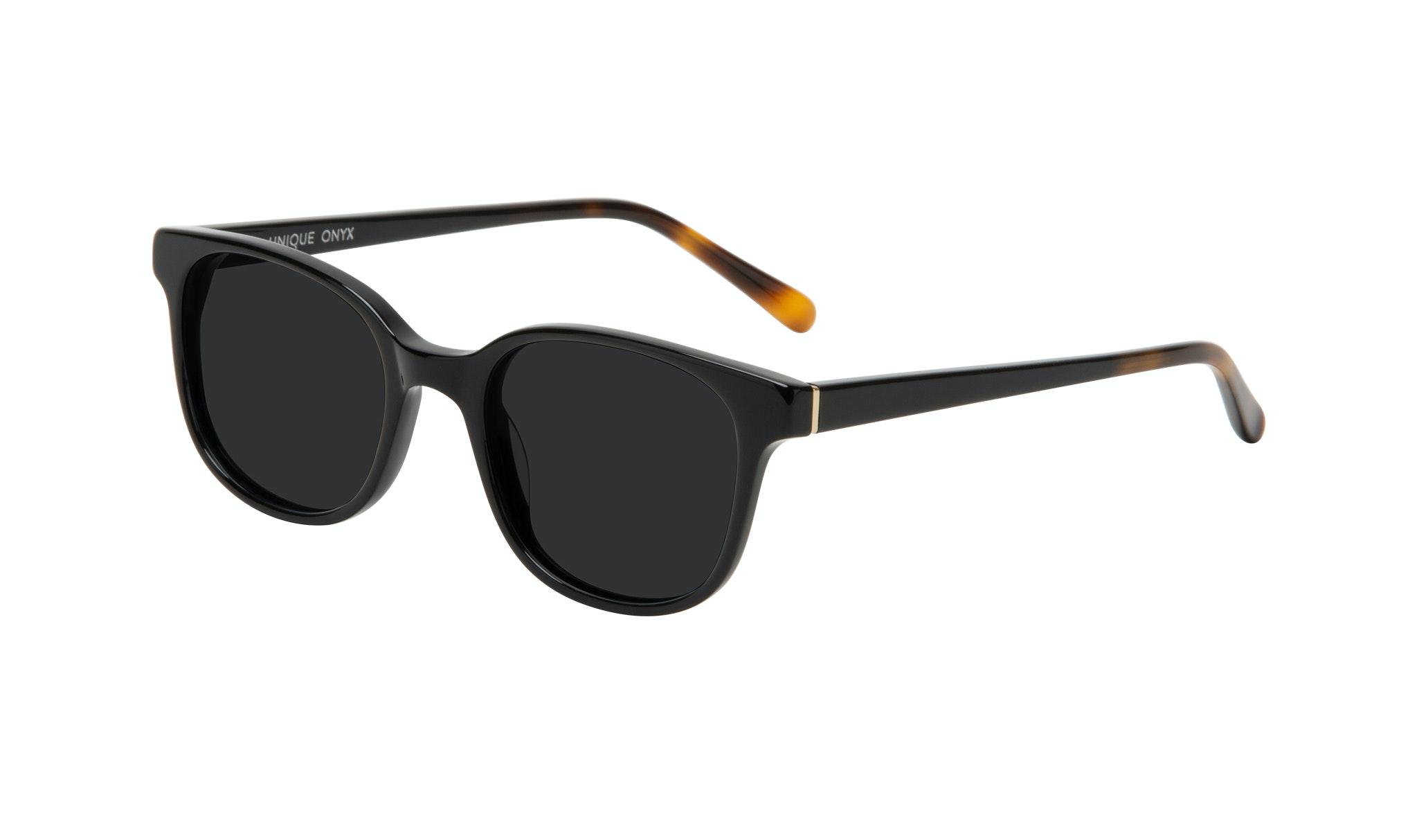 Affordable Fashion Glasses Square Sunglasses Women Unique Onyx Tilt