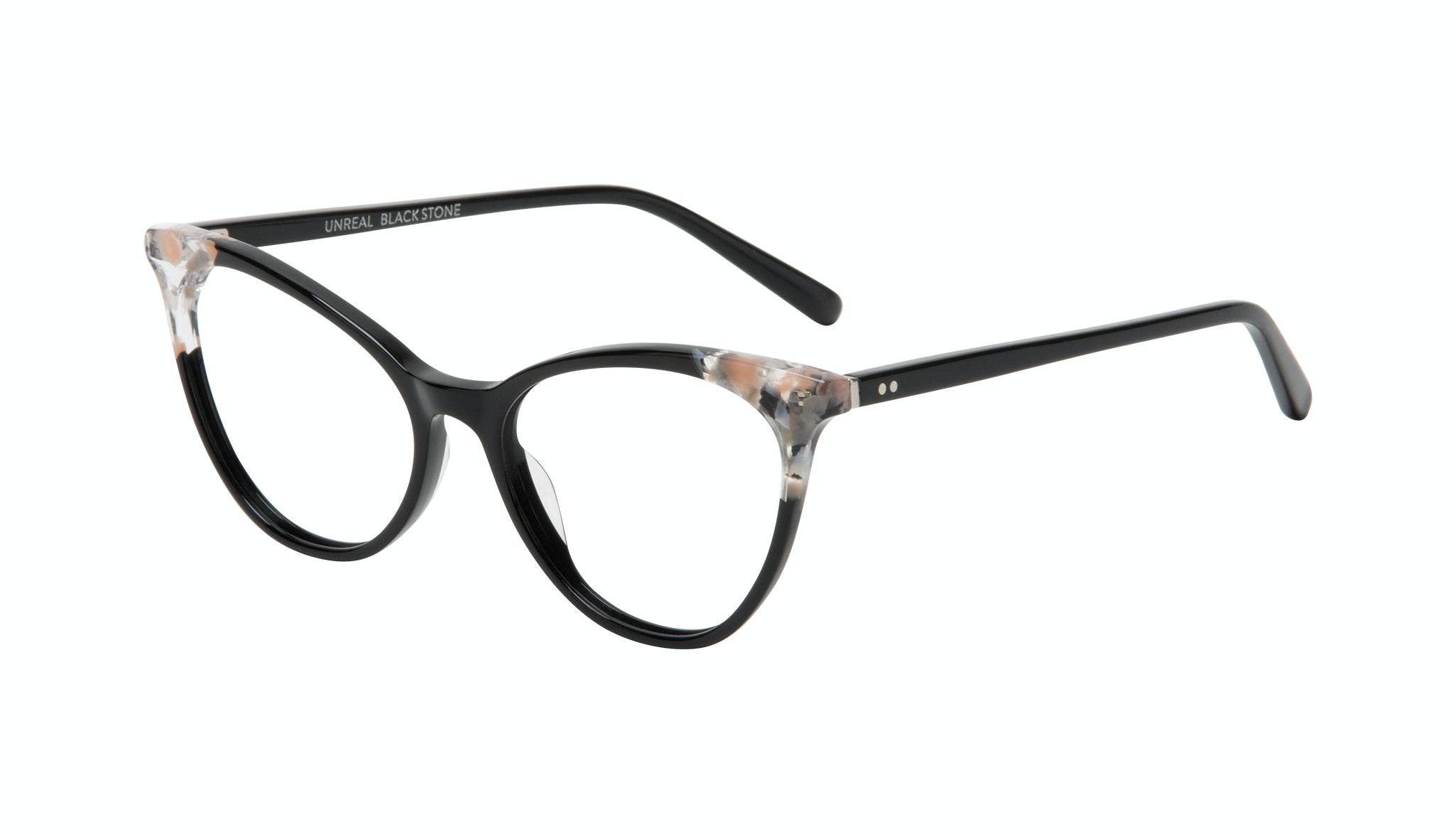 Affordable Fashion Glasses Cat Eye Eyeglasses Women Unreal Black Stone Tilt